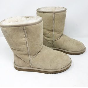 Ugg classic short shearling lined boots